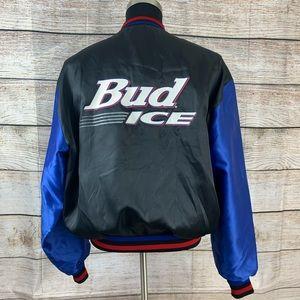 Vintage Bud Ice nylon jacket large made in U.S.A